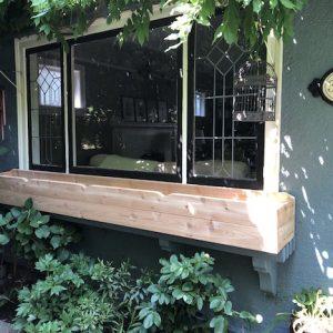 Cedar window box custom woodwork