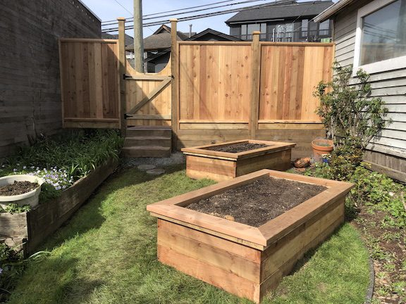Raised Vegetable Garden and landscape woodwork