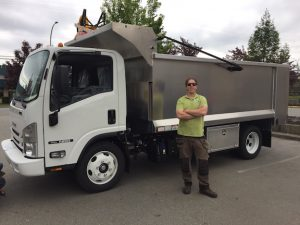 Higher Ground Gardens dump truck Vancouver BC