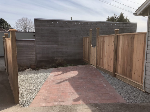 Paver driveway and gate