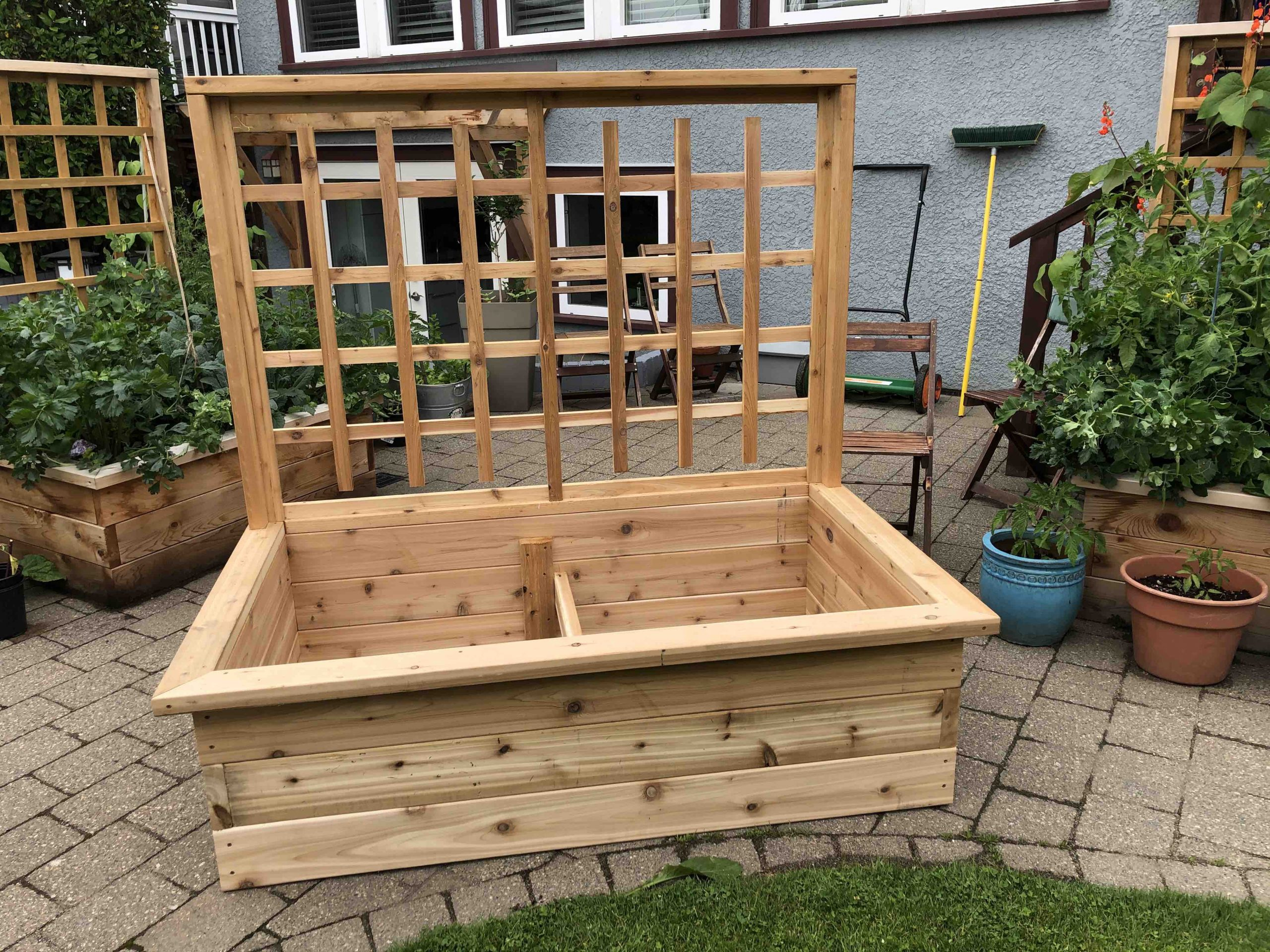 raised vegetable garden box cedar landscape gardening carpentry vancouver bc