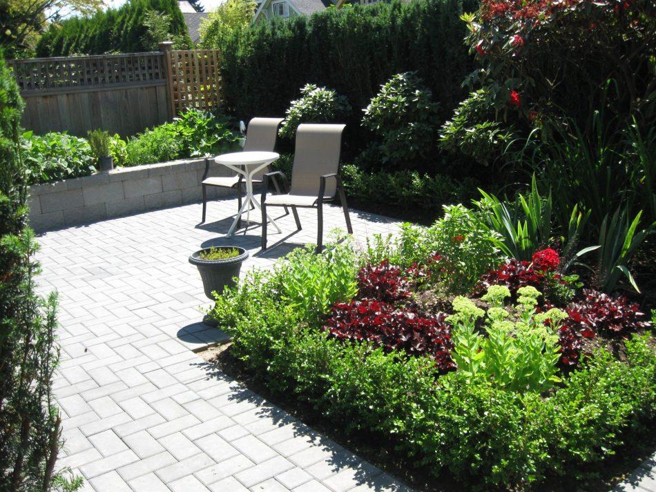 Concrete paver patio landscaping vancouver bc